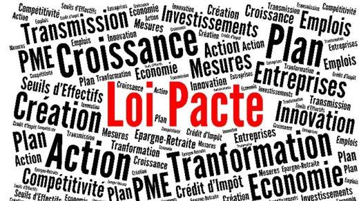 Illustration nuage de mots Loi pacte